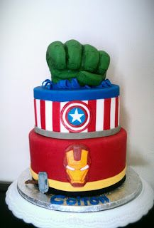 bolo de aniversario os vingadores