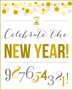 Free printables - New year's Eve party sign! See more party ideas at CatchmyParty.com. #freeprintables #newyears