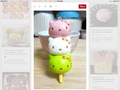 Hello Kitty Dango Squishy this is one of my fave hk squishy's Homemade Squishies, Silly Squishies, Baby Disney, Disney Mickey, Cute Bento Boxes, Miss Kitty, Hello Kitty Collection, Hello Kitty Wallpaper, Kawaii Chibi