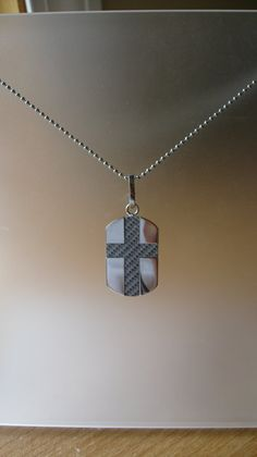 Mens Dog Tag Cross Necklace by 310jewelry on Etsy, $50.00
