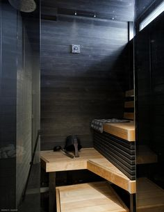 Home And Living, Home And Family, Sauna Design, Outdoor Sauna, Relaxation Room, Interior Decorating, Interior Design, Home Spa, My Dream Home