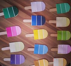 Roleplay game for kids.  Popsicle craft