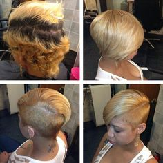 Edgy Cut And Color community.blackha Edgy Cut And Color community. Short Sassy Hair, Short Hair Cuts, Short Pixie, Curly Pixie, Pixie Cuts, Curly Hair, My Hairstyle, Girl Hairstyles, Relaxed Hairstyles