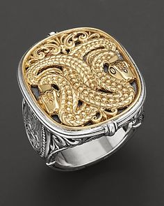 Konstantino Sterling Silver And 18K Yellow Gold Ring | Bloomingdale's