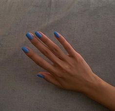 Image about girl in Blue 💙 by Zoé on We Heart It Chic Nails, Stylish Nails, Swag Nails, Grunge Nails, Nagellack Design, Nagellack Trends, Simple Acrylic Nails, Best Acrylic Nails, Nail Jewelry