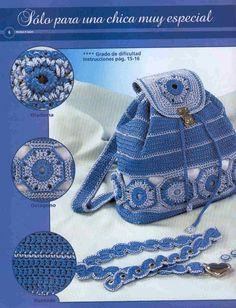 Bag Lady Pinspiration!  ☀CQ #crochet #bags #totes  http://www.pinterest.com/CoronaQueen/crochet-bags-totes-purses-cases-etc-corona/