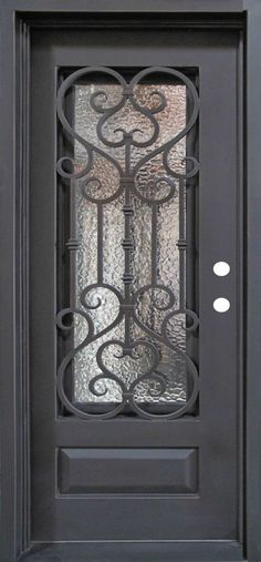 Single Wrought Iron Door, Doors W/ Oper-able Glass Panel FL-IRON7101S-IW02 in Home & Garden, Home Improvement, Building & Hardware   eBay