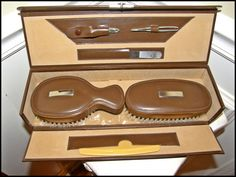 1950s Male Grooming Set Engraveable West German by Nicholettes, $37.95