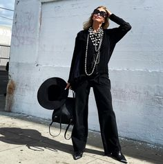 An all black outfit ensemble | Photo shared by Tamera | For more style inspiration visit 40plusstyle.com