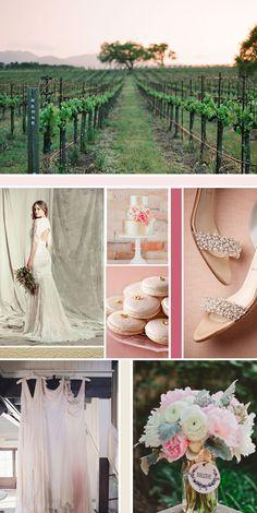 color palette: Blush, cream, gold, rose    see also: http://tecpetajaphoto.com/mix-laurent-provence-france/