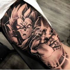 """Morra inseto"" por @matiasnobletattoo #Art #Artist #Inked #Tattoo #Tattooartist #Tattooed #vegeta #dragonballztattoo"