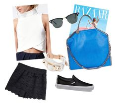 """""""Black n' white"""" by fashionkid-1 on Polyvore featuring The Fifth Label, Vans, STELLA McCARTNEY, Balenciaga and Ray-Ban"""