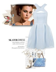 """""""Summer Style: Cutout Skater Dress..."""" by unamiradaatuarmario ❤ liked on Polyvore featuring Dolce&Gabbana, Tamara Mellon, Topshop, women's clothing, women's fashion, women, female, woman, misses and juniors"""
