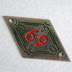 Vintage metal room number tag 69 door tag Vintage wall by MyWealth, $8.75
