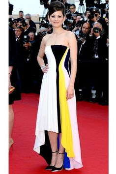 Great dress. Marion would look fabulous in the Carmen Marc Valvo Giovanna Sun wear! 15 Red-Carpet Looks That Conquered Cannes #Refinery29