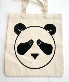 Panda Tote Bag / cheekyboo