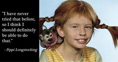Risultati immagini per pippi longstocking quotes Quotes And Notes, Book Quotes, Great Quotes, Words Quotes, Me Quotes, Inspirational Quotes, Pippi Longstocking, Picture Story, Change Quotes