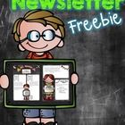 You will love this editable newsletter. This is a great way to communicate and inform parents. This freebie has a color and black and white option....