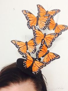 The Hunger Games DIY Effie Trinket Butterfly Hat for my Halloween Costume!