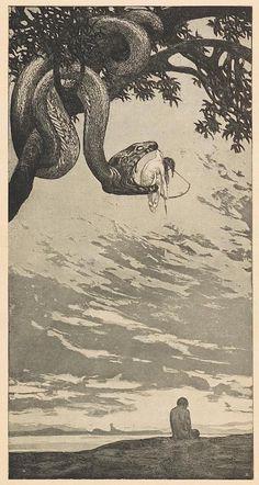 Austrian illustrator, Fritz Hegenbart (1864-1943). Malice (illustration for Kunst und Handwerk)1902 -03Ed. Orig. (Lic. x x)