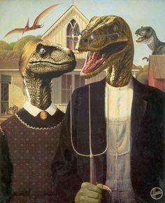 American Gothic Raptor.