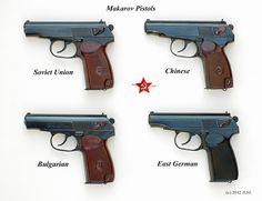Makarov pistols -- the only four TRUE Makarov's - Rgrips.com