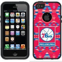 Philadelphia 76ers Basketball Design on OtterBox Commuter Series Case for Apple iPhone 5SE/5s/5