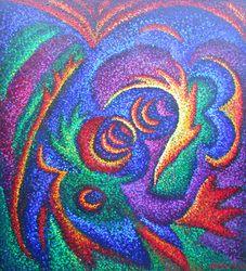 Allan Eddy blind artist, very colorful Blind Artist, Georges Seurat, High School Art, Stippling, Aboriginal Art, Blue Art, Dot Painting, Art Education, Diy Art