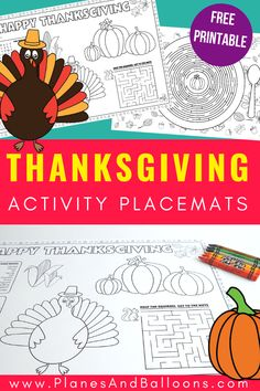 Printable Thanksgiving placemats for kids to solve and color Free printable Thanksgiving placemats for kids table. Make the Thanksgiving kids dinner table more special with these Thanksgiving activities. Thanksgiving Placemats, Free Thanksgiving Printables, Thanksgiving Activities For Kids, Thanksgiving Crafts For Kids, Holiday Activities, Thanksgiving Decorations, Thanksgiving Recipes, Fall Preschool Activities, Preschool Crafts