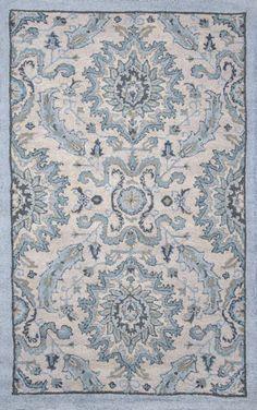 Savanna Damask VE30 Tan Rug | Contemporary Rugs #RugsUSA