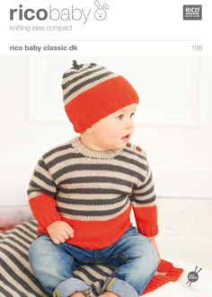 Babies' Sweater, Blanket And Hat in Rico Baby Classic DK - 198. Discover more Patterns by Rico at LoveKnitting. The world's largest range of knitting supplies - we stock patterns, yarn, needles and books from all of your favorite brands.