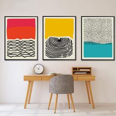 Yonkers Stretched Canvas – Articture Geometric Wall Art, Colorful Wall Art, Unique Wall Art, Diy Wall Art, Abstract Wall Art, Mid Century Modern Art, Mid Century Wall Art, Office Artwork, Diy Artwork