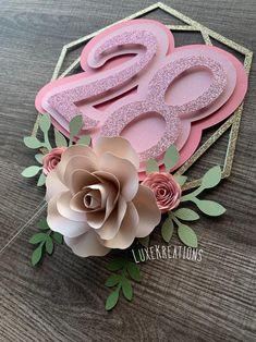 Diy Birthday Banner, Birthday Cake Toppers, Diy Crafts Gift Box, Quilling Cake, Cricut Cake, Boho Cake, Diy Cake Topper, Paper Flowers Craft, Paper Cake