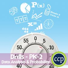 For grades PK-2, our resource meets the data analysis & probability concepts addressed by the NCTM standards and encourages your students to review the concepts in unique ways. Each drill sheet contains warm-up and timed drill activities for the student to practice data analysis & probability concepts. The pages of this resource contain a variety of content and levels of difficulty so as to provide students with different learning opportunities.