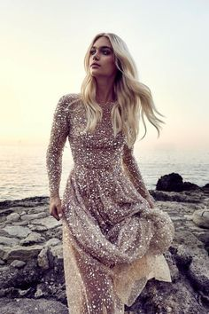 """""""La Bella Donna"""" Wedding Gown Collection By Chosen shot in Italy with sparkling, sequin covered wedding gowns, Including gowns for curvy brides. Pretty Dresses, Beautiful Dresses, Beautiful Live, Bridal Gowns, Wedding Gowns, Rose Gold Wedding Dress, Wedding Reception, Post Wedding, Sequin Wedding Dresses"""