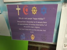 Post with 0 votes and 1696 views. This sign at my daughter's school got it right. Sorry Not Sorry, Atheist, Trending Memes, Happy Holidays, Wish, Funny Jokes, To My Daughter, Religion, How To Get