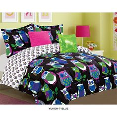 Merveilleux Girls Kids Bedding  Yukon Black Reversible Bed In A Bag Turn Your Childu0027s  Bedroom Into A Fun Hip Space With This Yukon Black Comforter Set.