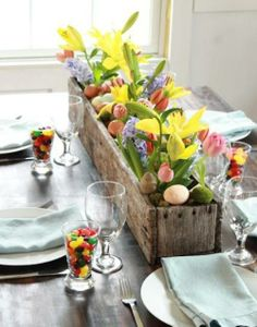 Beautiful centerpiece for your Easter table!