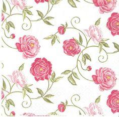 Papel 4x Servilletas Para Fiesta Decoupage Craft-Mademoiselle Rose
