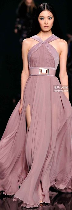 Look at the flowing skirt on this dress!! Elie Saab Fall 2014 RTW