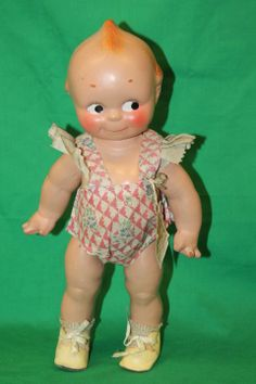 Vtg Adorable 1930's Composition Kewpie doll Sunsuit