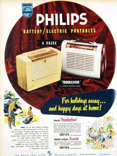 Philips: flogging off the family silver? No, just going back to where the… Vintage Records, Vintage Tv, Vintage Travel, Vintage Advertising Posters, Vintage Advertisements, Vintage Posters, Radios, Cb Microphone, Radio Shop
