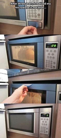 Well at least her microwave had protection for all those years...no scratches or nothin..I'd say it's as if it were brand new 😂