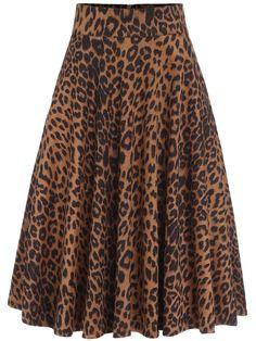 Falda leopardo plisada-(Sheinside)