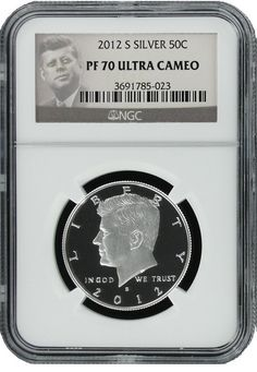 The latest hot coin from 2012 Silver proof sets; the JFK PF70 Silver Half Dollar $100