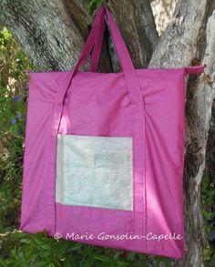"""sac de transport pour carreau plat lin enduit """"couturelin"""""""