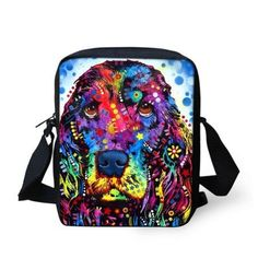 FORUDESIGNS 3D Animals Dog Print Women's Small Messenger Bags Leisure Mujer Shoulder Bags Causal Cross Body Bags for Girls