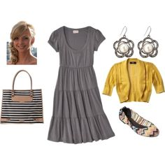 Love the gray dress...very versatile!