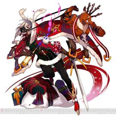 """Lilac and Golden Horn & Silver Horn Chrisma in """"Akasic Recode"""" …. Christmas Time, Merry Christmas, Golden Horn, Christmas Fashion, Horns, Lilac, Character Design, Anime, Inspiration"""