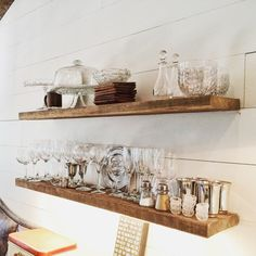 Our reclaimed heart pine transformed into #shelves! Want some for your space? Email us at info@evolutiamade.com